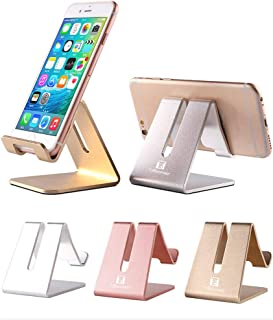 Cell Phone Stand Holder - ToBeoneer Aluminum Desktop Solid Portable Universal Desk Stand Compatible with All Mobile Smart Phone Huawei iPhone X 8 7 6 Plus 5 Ipad Mini Tablet Office Decor (Rose Gold)