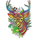 Jigsaw Puzzles for Adults,Wooden Puzzles,Deer,Christmas Reindeer,Animal Jigsaw Puzzles 7in×11in(18cm28cm)