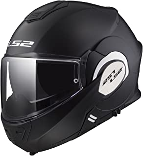 LS2 Helmets Motorcycles & Powersports Helmet's Modular Valiant (Matt Black, Medium)