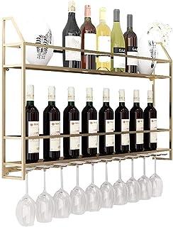 JBNJV Organisation de Rangement de Cuisine Support Mural européen pour casier à vin en métal sur Pied |Support de Rangeme...