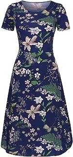 Printing Dresses for Women Fashion Going Out Dress Summer Grace Mid-Calf Short Sleeve Beach Long Dresses