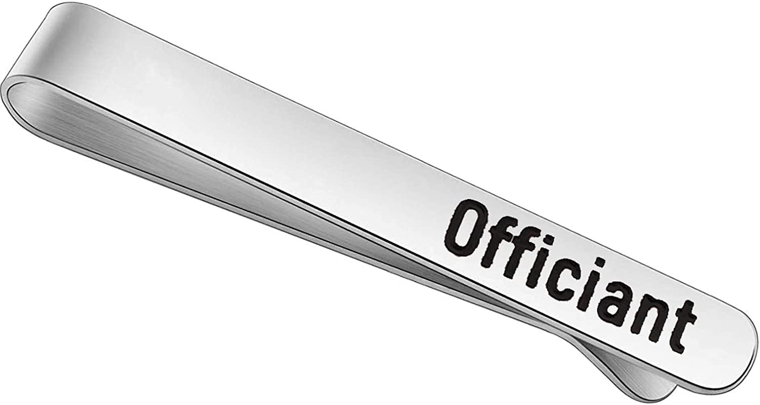 FEELMEM Wedding Officiant Austin Mall Gift Stainless Factory outlet Steel Cli Tie