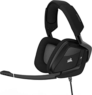 Corsair Void PRO RGB USB Gaming Headset (Customizable RGB Lighting, Microfibre Memory Foam Earcups, 7.1 Dolby Surround Sound, Optimized Unidirectional Microphone, Xbox Compatible) - Carbon Black