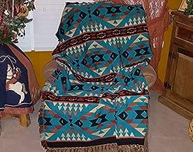 Mision Del Rey Southwestern Accent Throw 50x60 -Lakota Turquoise
