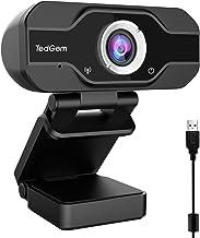 PC Webcam, TedGem 1080P Full HD Webcam USB Desktop & Laptop Webcam Live Streaming Webcam with Microphone Widescreen HD Vid...
