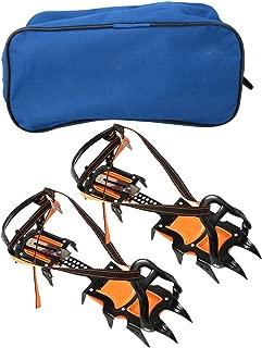 Mootea Cubierta de Zapatos de esquí, 1 par de Botas de crampones de Garra de Primavera de 12 Dientes al Aire Libre Botas de esquí Antideslizantes Accesorio de Cubierta