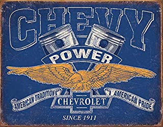 Desperate Enterprises Chevy Power Restricted Tin Sign, 16