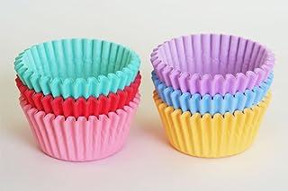 FBA(カラー無地)マフィン型用ベーキングカップアソート 180枚(6色×30枚) 6個用金型専用