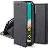 Moozy Case Flip Cover for Xiaomi Mi A3, Black - Smart