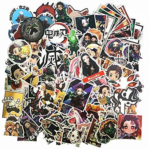 Demon Slayer Cosplay,DIY Demon Slayer Anime Sticker for Party Phone,Water Bottle,Laptop,Skateboard,Motorcycle,Car,Bike,Luggage Laoji 200PCS Demon Slayer Stickers Demon Slayer Stickers