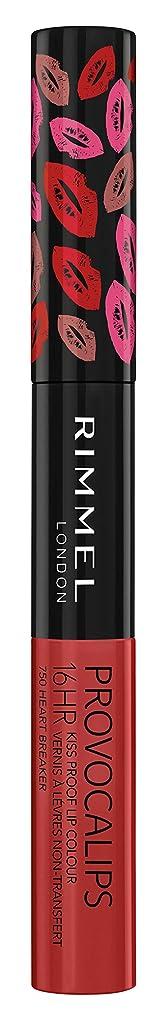 ディスクシーフードなめらかなRIMMEL LONDON Provocalips 16Hr Kissproof Lip Colour - Heart Breaker (並行輸入品)