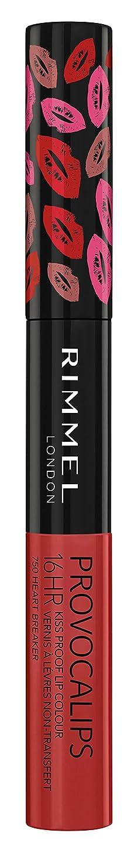 活力つば虚栄心RIMMEL LONDON Provocalips 16Hr Kissproof Lip Colour - Heart Breaker (並行輸入品)