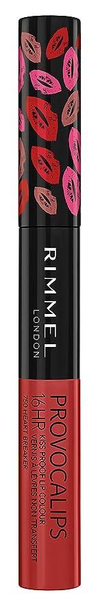 崩壊吹きさらしプライバシーRIMMEL LONDON Provocalips 16Hr Kissproof Lip Colour - Heart Breaker (並行輸入品)