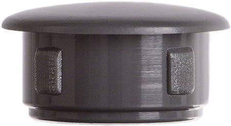 25 piezas tapones para orificios agujeros tapas 10x6 mm blanco Tap/ón ciego pl/ástico tapas