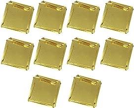 10 Pcs Edible 24K Gold Leaf Sheets, Imitation gold foil paper Leaf For Cooking Cakes & Chocolates Decoration Health & Spa 8 * 8 Cm
