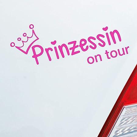 Auto Aufkleber In Deiner Wunschfarbe Prinzessin On Tour Krone Mädels 20x10 Cm Autoaufkleber Sticker Folie Auto