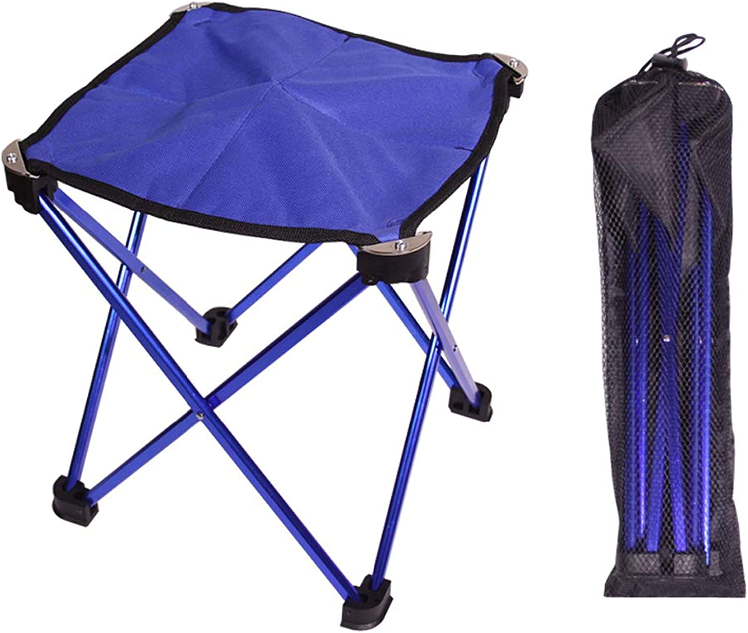 Folding Lightweight Camping Chair Portable Outdoor, Beach BBQ Camp Fishing Picnic Hiking Backyard Backpacking Sports Hunting Chairs, Carry Bag, Small Stool blueee