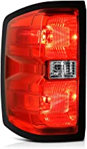 VIPMOTOZ Red Lens OE-Style Tail Light Lamp Assembly For 2014-2018 Chevy Silverado 1500 2500HD 3500HD Incandescent Bulb Model, Driver Side