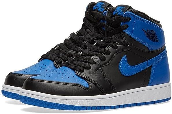 Nike Kids Air Jordan 1 Retro High OG BG Black/White 575441-007 (Size: