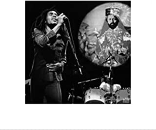 Pyramid America Bob Marley and The Wailers Selassie is The Chapel B&W Music Thick Cardstock Poster 15.75x15.75 inch