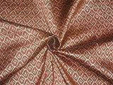 Brokat-Stoff, Burgunderrot x Gold, 121,9 cm, Bro526[4] von