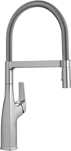 high quality BLANCO, sale Stainless 442676 RIVANA discount Semi-Pro Dual Spray Kitchen Faucet, 1.5 GPM sale
