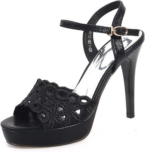 GTVERNH Mode Chaussures Femme Une Paire De De Sandales à Talons Hauts Talons 11Cm Poisson Bouches Creux Broderie Summer.Trente - Huit oren  100% neuf avec qualité d'origine
