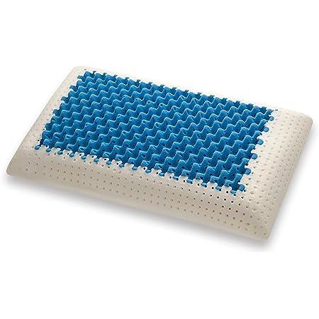 Marcapiuma - Oreiller Mémoire de Forme - Blue AIR Massage - Ultra Respirant Effet Massage Housse 100% Coton - Coussin Mousse mémoire cervicale Orthopédique - Dispositif Médical - 100% Made in Italy