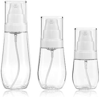 Bote Spray Botella de Aerosol Vacío Plástico Transparente Niebla Fina Atomizador de Viaje Recargable Conjunto de Botellas Maquillaje Vacio de Agua Claro Contenedor (30ml/60ml/100ml)