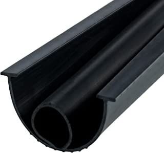 BAINING Garage Door Seals Bottom Rubber 1/4 Inch T-Slot with Type O Ring, 16 ft Long