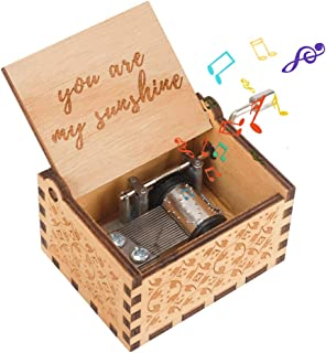 Birthday Present for 3-7 Year Old Girl, Portable Music Box Mechanism Toy for 3-9 Year Old Boys Kids Retro Musical Boxes fo...