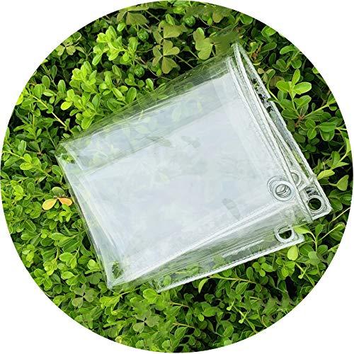 Toldo Impermeable, Transparente PVC Película Blanda Refugio Lluvia Suave Protección Medio Ambiente Anti-envejecimiento, Sin Perforaciones Cortina Polvo LIANGLIANG (Color : Claro, Size : 1.6x3m)