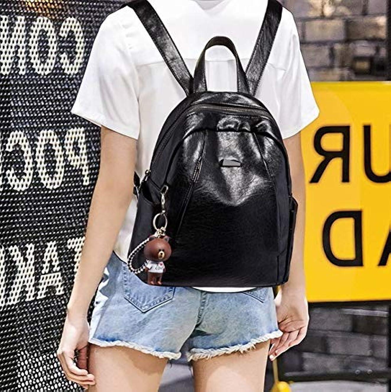 合意落胆した形classic 型崩れ防止 レザー リュック BAG 【ブラック】ハンドバッグ ショルダーバッグ 海外セレブ K-064-1
