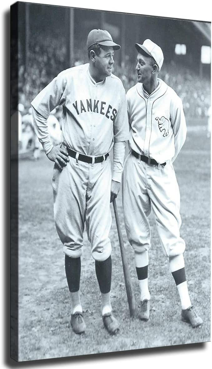 FINDEMO Babe Ruth and Ty 商店 超定番 Cobb on Poster Bedroom Painting Canvas