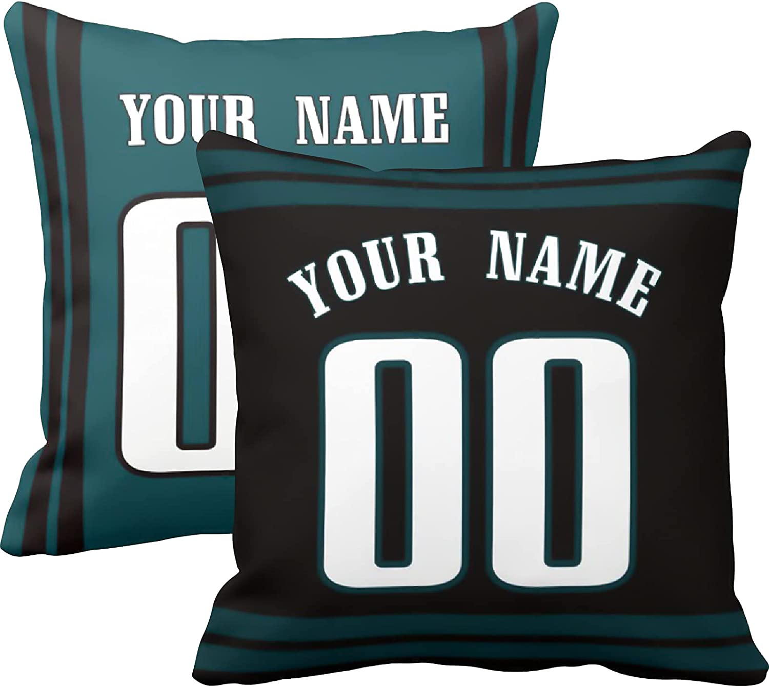 Philadelphia Throw Pillow Custom Personalized Max 62% OFF Numbe Any Outlet ☆ Free Shipping Name and
