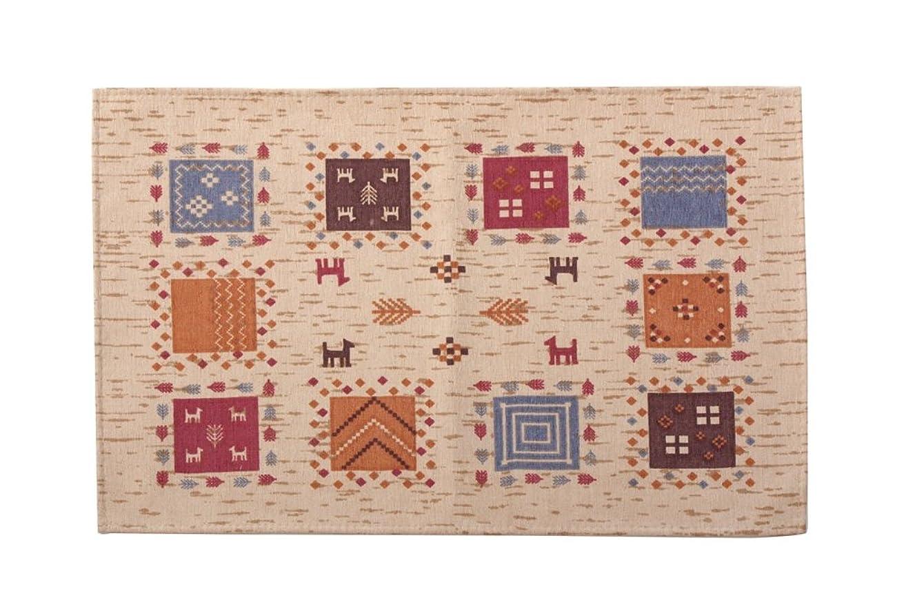 ペストリーたるみペストリーイケヒコ 玄関マット 洗える ギャベ柄 『ギャベル』 ベージュ 約60×90cm 滑りにくい加工