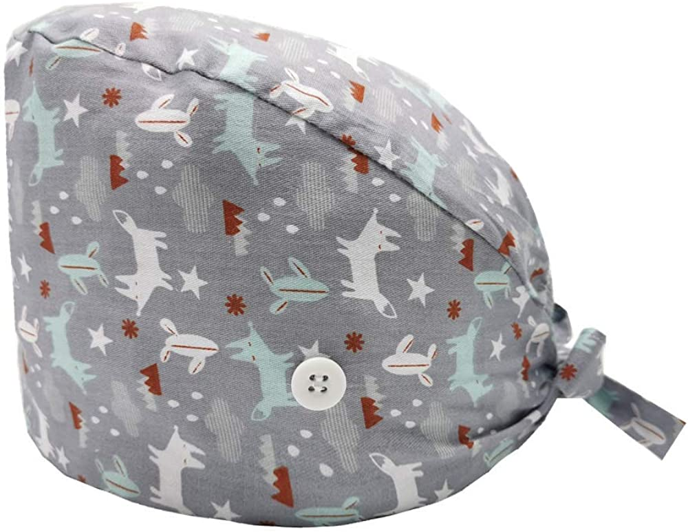 JANBOR Working Cap with Buttons, Adjustable Working Hat with Cot