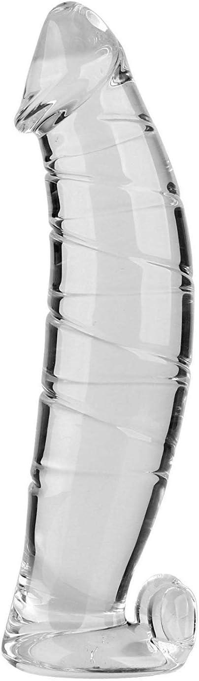 NewMaxer Realistic Ranking TOP18 Max 77% OFF Swirl Glass Crystal Pleasur Dildo