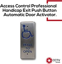 Handicap Steinless Steel Actuator Request to Open/Exit Push Plate Button Access Control with Disable Logo On Plate NO/NC/COM Easy to Install