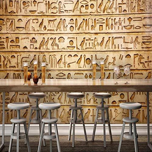 WSKBH Wandbildtapete,Benutzerdefinierte Creative 3D Fototapete Wandmalereien Im Europäischen Stil Retro Ägyptischen Klassische Piktogramm Tv Hintergrund Hd Drucken Wandmalerei Wohnzimmer Home Decor W