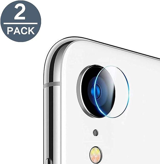 EasyULT Protector Cámara Compatible con iPhone XR [2 Pack] Cámara Trasera Lente Pantalla para Cristal Vidrio Templado