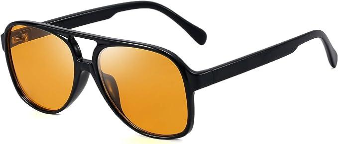 1960s Sunglasses   70s Sunglasses, 70s Glasses Oversized Square Sunglasses for Men Women Pilot Shades Gold Frame Retro Glasses  AT vintagedancer.com
