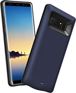 Basesailor Galaxy Note 8 Battery Case, Galaxy Note 8 5500mAh External Backup Charging Pack, Rechargeable Impact-Resistant Power Bank Case for Samsung Galaxy Note 8 (Blue)