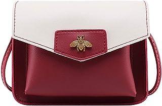 Wultia - Bags for Women 2019 Women Contrast Laminated Single Shoulder Bag Messenger Bag Bolsa Feminina Red