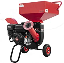 XtremepowerUS 6.5HP Multifunction Chipper Shredders Gas Powered 212cc Wood Chipper Shred Branches