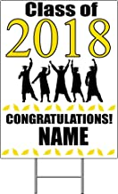 2018 GRADUATION YELLOW YARD SIGN (1 EACH) by Partypro