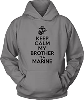 my brother is a marine hoodie