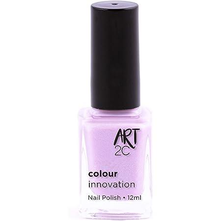 Art 2C - Esmalte de uñas de tonos innovadores, 96 colores, 12ml, color: Pretty lilac (011)