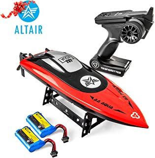 Altair Aqua Fast RC Boat for Adults & Kids, Pools, Rivers & Lakes, Remote Control Boat w Unique Child Safe Propeller System for Kids, Self Righting, 2 Batteries, 30 km/h, (Lincoln, NE Company)