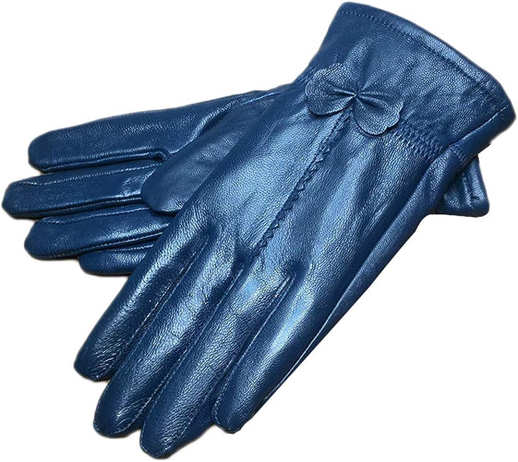 Eliffete Real Lambskin Women Winter Gloves Windproof Fleece Lined Driving Mitten